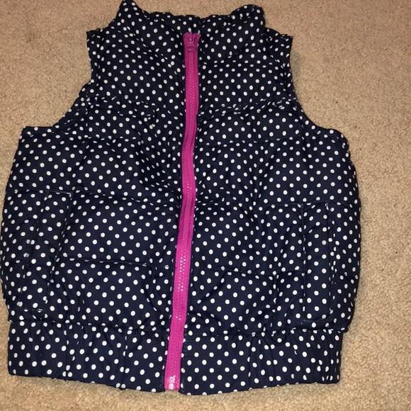 OshKosh B'gosh Other - Navy and pink puffer vest.